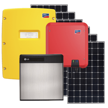 10kW solar panel kit with 10kw battery storage w. SMA fro grid tie and off grid solar panel systems