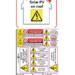 PV on Roof and Hazard Labels Set by solaranna