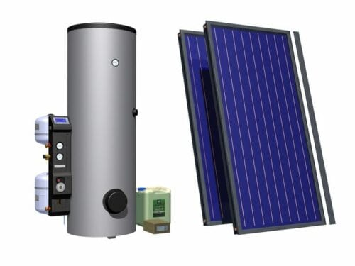 BlueTec Solar Thermal Kit 2.92kWp 2x Eco Classic + COMPACT-300HB