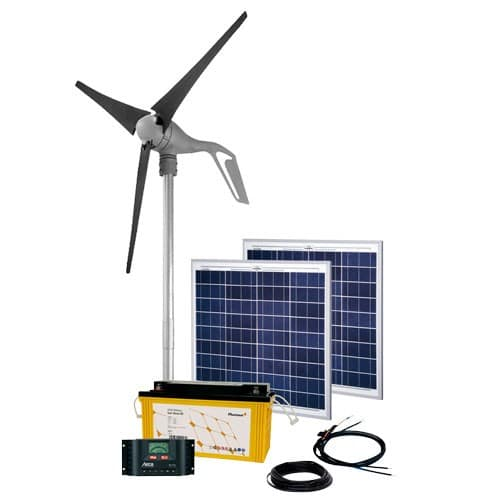 Energy Generation Kit Solar Wind Rise Three 2 0 100W 160W 12V off-grid