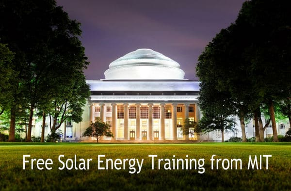 Advanced Free Solar Energy Training From MIT