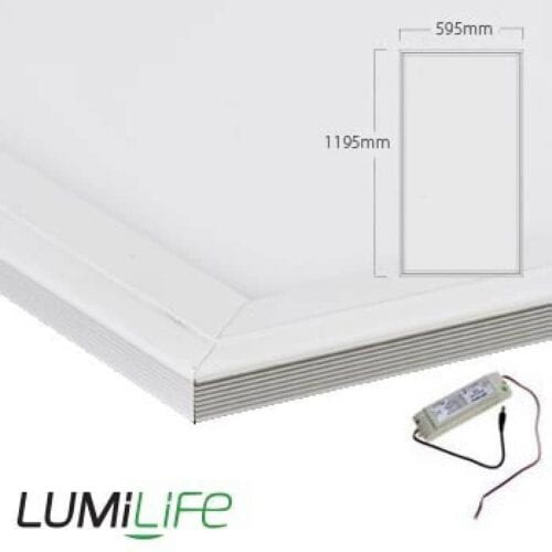 60W LED Panel - 595x1195mm - Daylight - Optional Dimmable Driver and Bracket