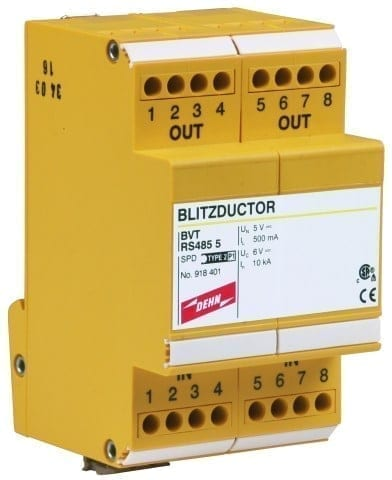DEHN BLITZDUCTOR-VT-BVT-RS485 Mounted Surge Protector