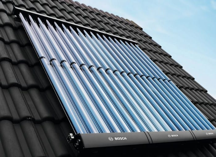 Bosch Junkers VK 120-2 CPC Solar Thermal Collectors On The Roof