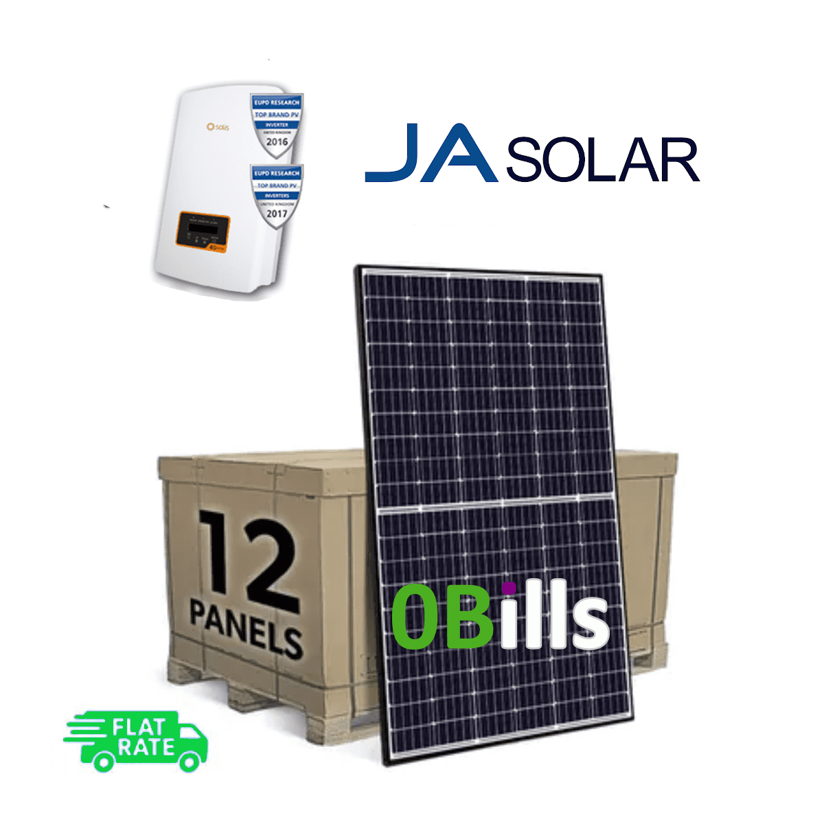 Amazon Solis 4kW Grid Tie DIY Solar Panel System Kit