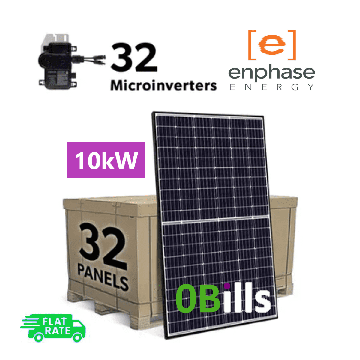 Complete Grid Tied 10kW DIY solar panel kit with Enphase IQ+ Microinverters