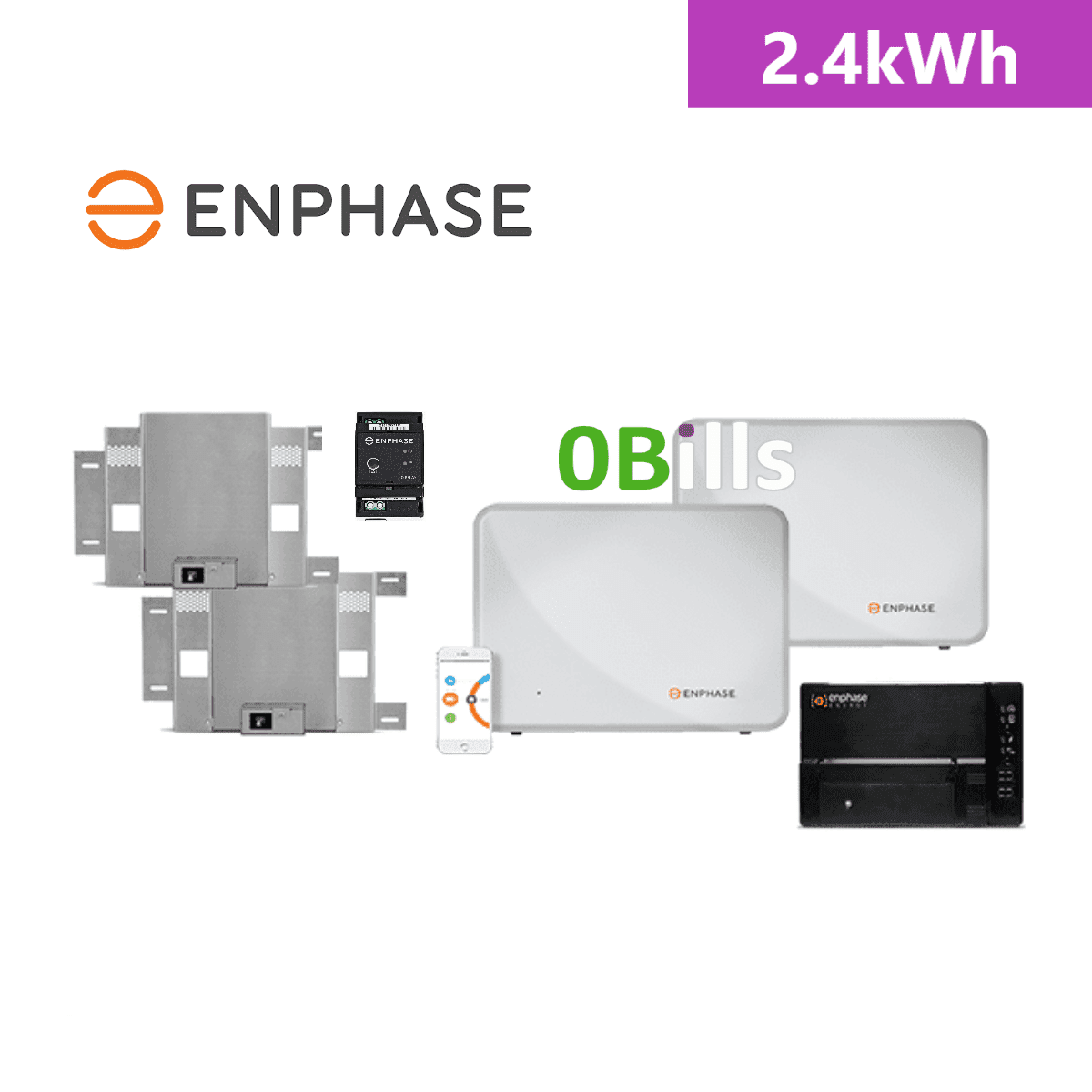 Enphase Energy AC Coupled 2.4kWh Solar Battery Storage Package