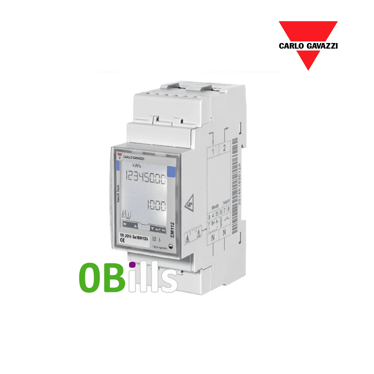 Carlo Gavazzi EM112 1 Phase Smart Energy Meter 100A