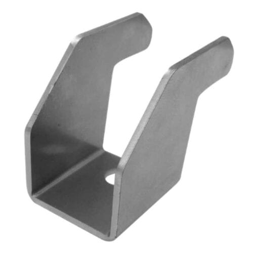 GSE Integration End Clamp SILVER 45mm for Roof Integrated Solar Panel Mounting