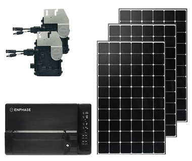 Grid Tied 3kW DIY solar kit with Enphase IQ+ Microinverters