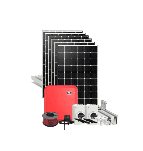 Grid tied 4kW DIY solar kit with SMA and IBC solar panels