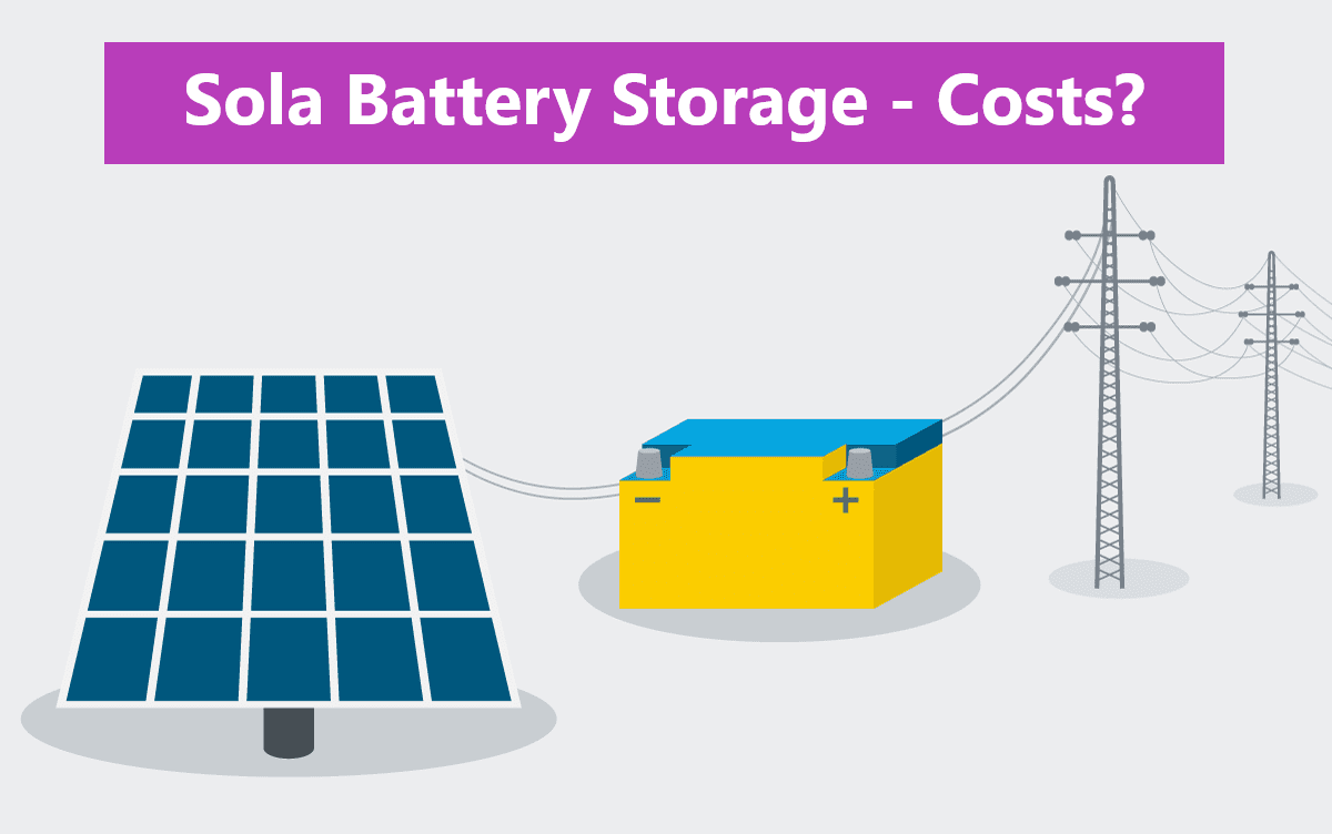 How Much Does a Solar Battery Storage System Cost ? - Explained