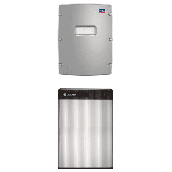 LG Chem RESU 6.5 with SMA SI 4.4M-13 6.5kW Li Battery Storage Package on zerohomebills.com by solaranna