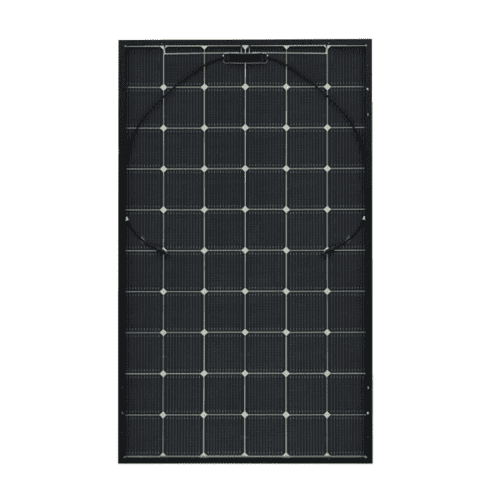 The back panel of the LG NeON2 LG335N1T-V5 335W BiFacial Transparent Solar Panel