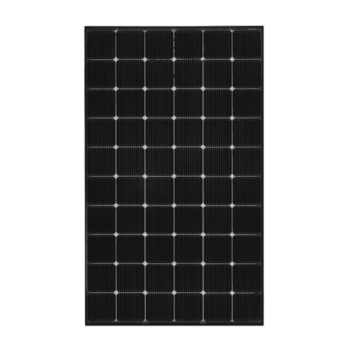 The front of the LG NeON2 LG340N1T-V5 340W BiFacial Transparent Solar Panel