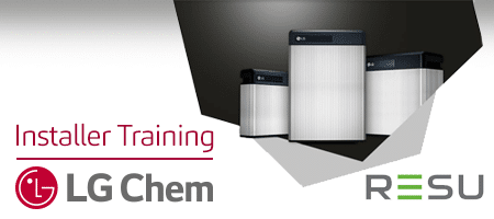 IMPORTANT: Certification for LG Chem RESU Battery Installers