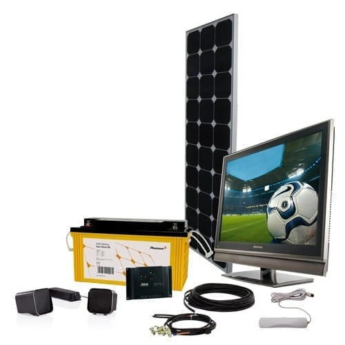 Phaesun off grid solar power kit with DC TV