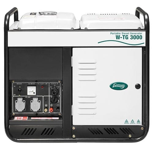 Portable Diesel Generator Whisperpower W-TG 3000 on zerohomebills.com by solaranna