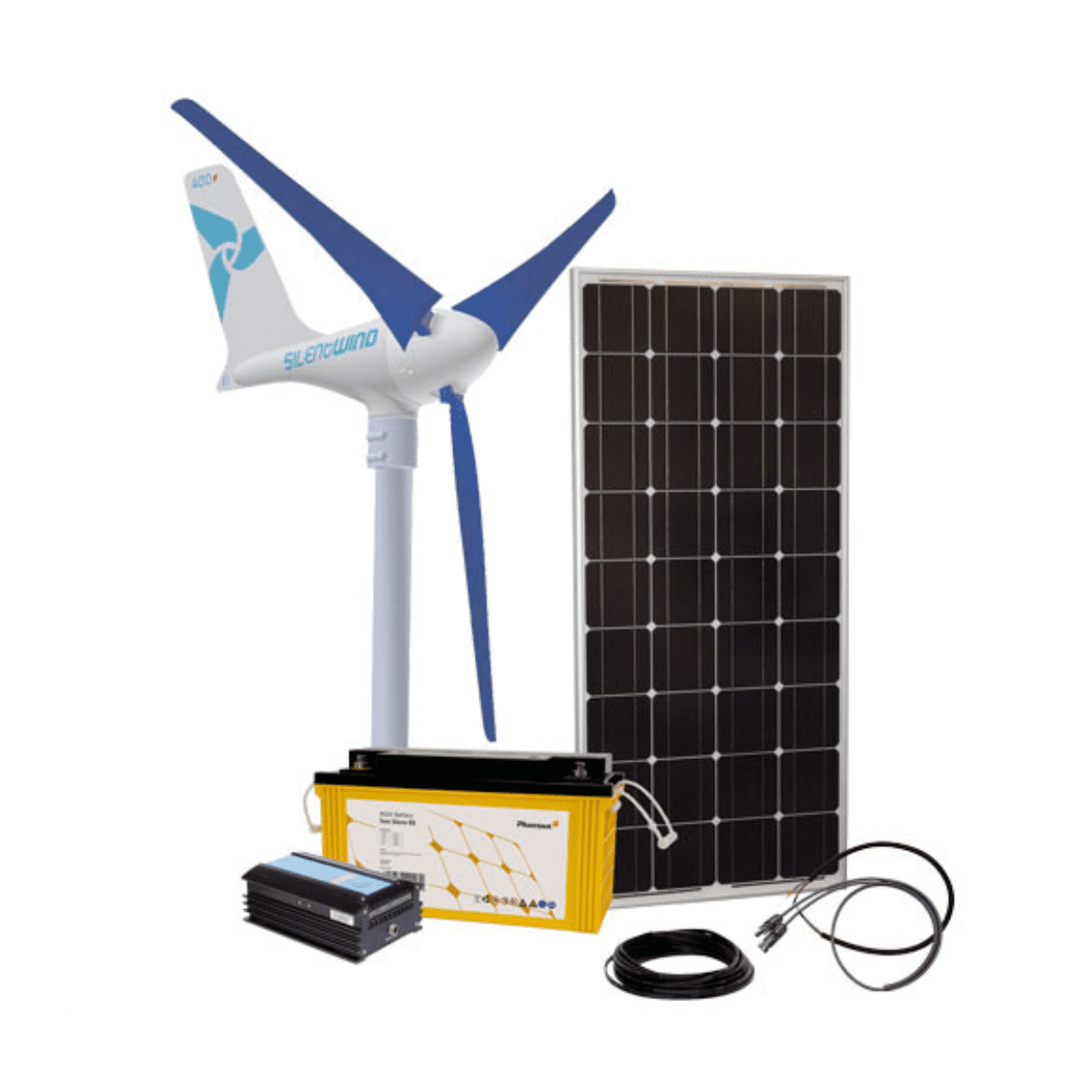 Silentwind 12V 520W Wind Turbine Kit with 100W Solar Panel on Sale