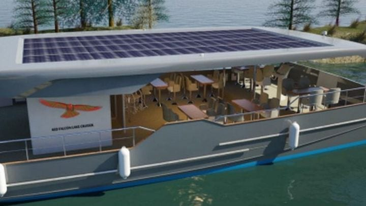 Solar panel powered water taxi plan for Cardiff to Bristol ferry