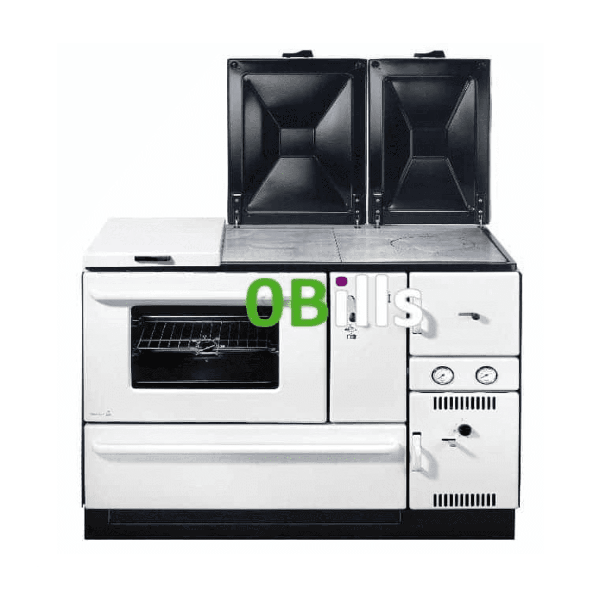 Wamsler 1100 series (K178) central heating cooker stove WHITE (Left)
