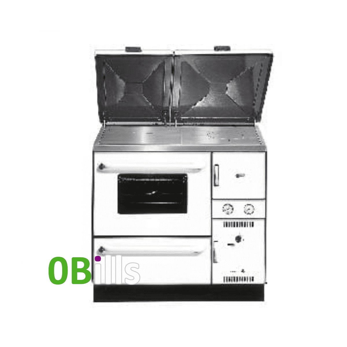 Wamsler 900 Series (K148) central heating cooker stove WHITE (Left)