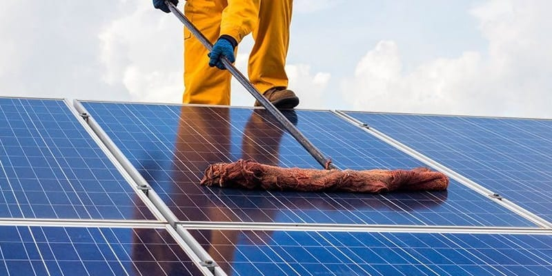 Solar modules cleaning is a job for professionals